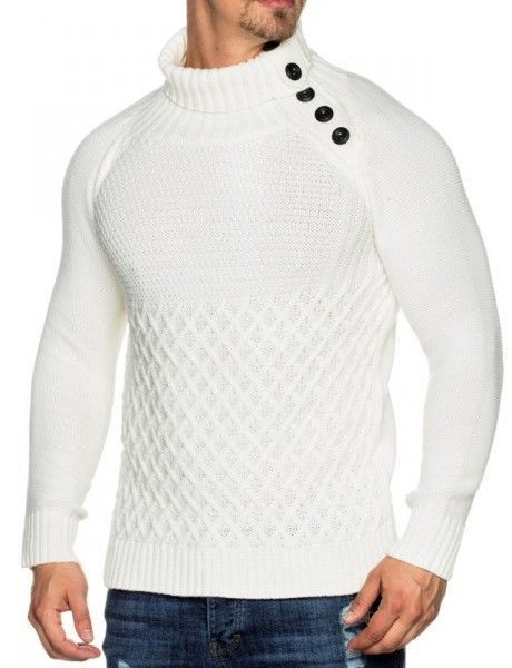 homme Pull Beststyle blanc Pull Beststyle fashion twSqRgE