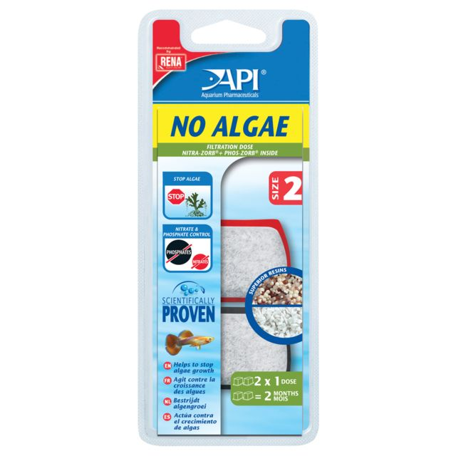 Rena Api - Traitement en Dose No Algae de Taille 2 pour Aquarium x2