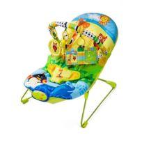 Kinderkraft - Transat enfant bébé mélodies et vibrations 0-12 mois Animaux