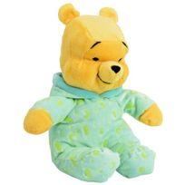 Nicotoy - Winnie L'OURSON Doudou 25 cm Pyjama Vert Fluo