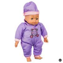 Be Toys - Go Babies - Poupon Bébé câlin - 6 Sons - Violet