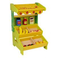 Legler - Boutique épicerie en bois coloré pour jeux de la marchande - 15 articles en bois inclus