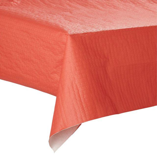 alinéa - lorie rouleau de nappe en papier rouge coquelicot l6m - pas