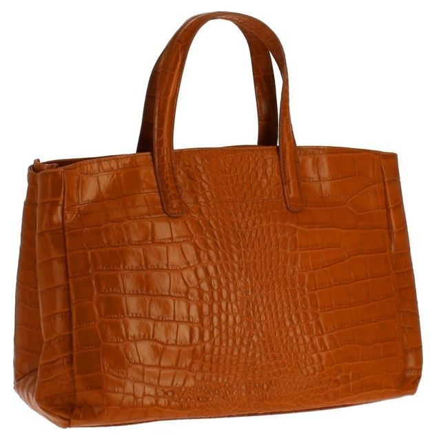 d66afaba75 Dupond Durand - Sac à main en Cuir Tombsor, croco camel - pas cher ...