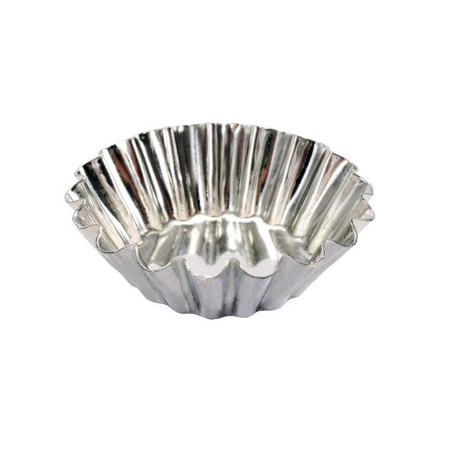 Guery Moule à brioche côtes fines fer blanc 6 cm
