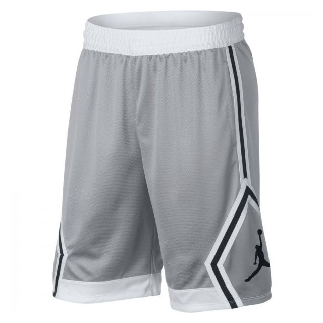 huge selection of 39749 8e62f Jordan - Short Jordan Rise Diamond Basketball Gris Pour Hommes taille - S
