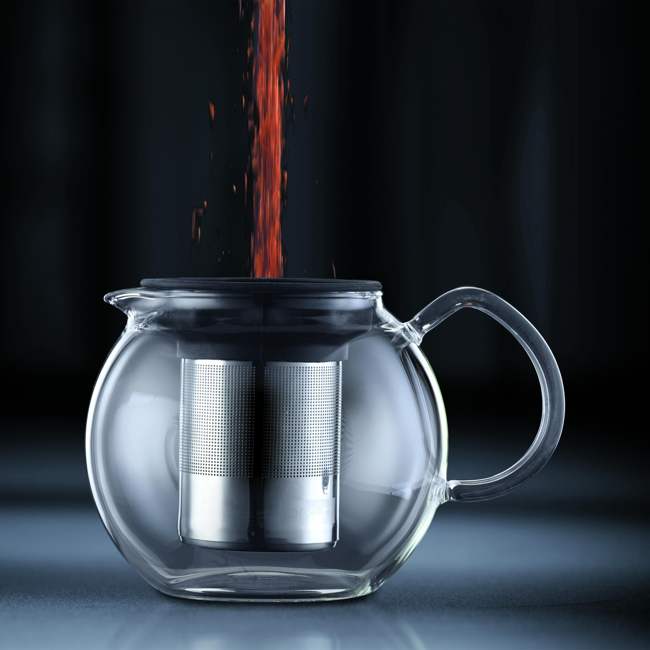 ASSAM Théière à piston, filtre en inox brillant, 1.0 l