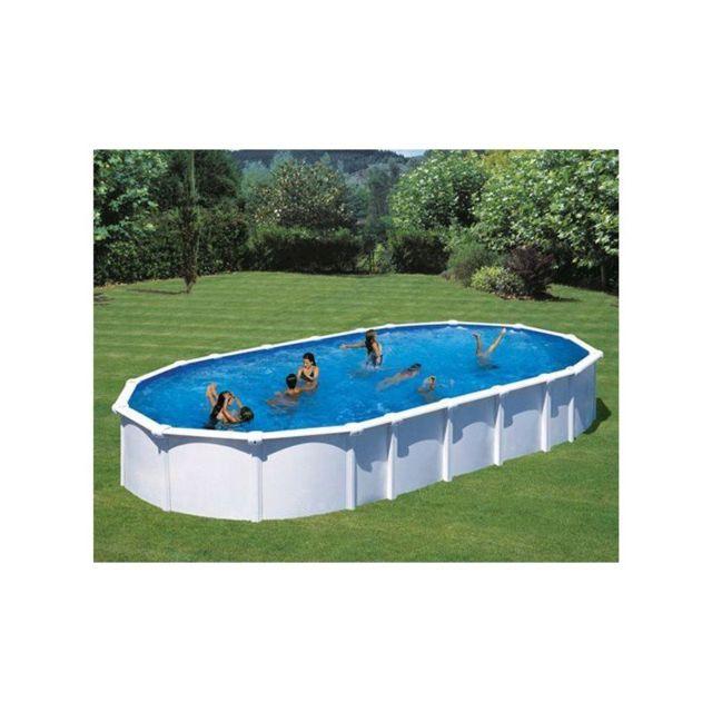 Gre pools kit piscine hors sol acier ovale haiti avec - Piscine hors sol acier pas cher ...