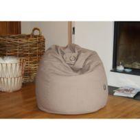 Finlandek - Salon - Finlandek Poire pouf Hanko. 100% coton 79x100 cm beige