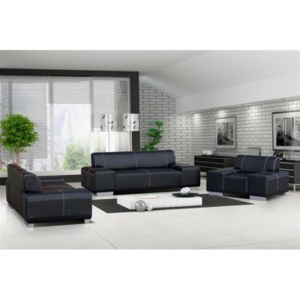 meublesline ensemble canap et fauteuil 3 2 1 flavio achat vente canap s simili cuir pas. Black Bedroom Furniture Sets. Home Design Ideas