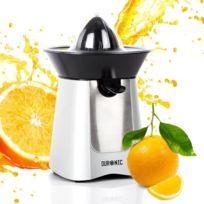 Duronic - Je6 /SR Presse-agrumes électrique compact en Inox de 100W - Bec verseur - 2 Cônes - Idéal pour jus d orange / de citrons / de fruits