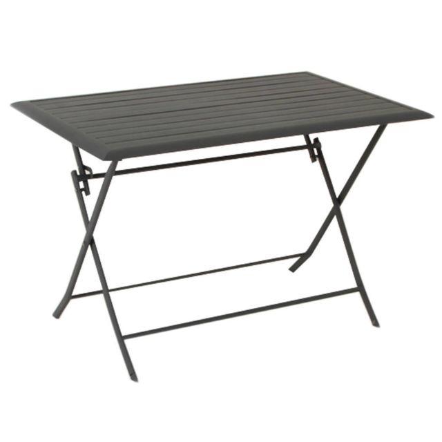 PEGANE - Table pliante rectangulaire en aluminium coloris ...