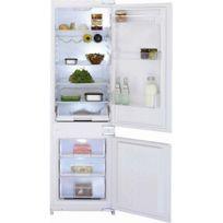 Beko - Cbi 7771 Réfrigérateur avec congélateur en bas - Encastrable - 54 cm - 283 L - Blanc