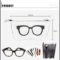 Wewoo - Pour lunettes de soleil   noir lunettes Motif de lunettes feutre  étui de protection à glissière 2c8515227167