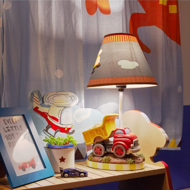 Fantasy Fields Lampe A Poser Enfant Transportation Chevet Bureau