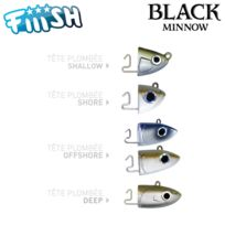 Fiiish - Tete Plombee Black Minnow 70MM
