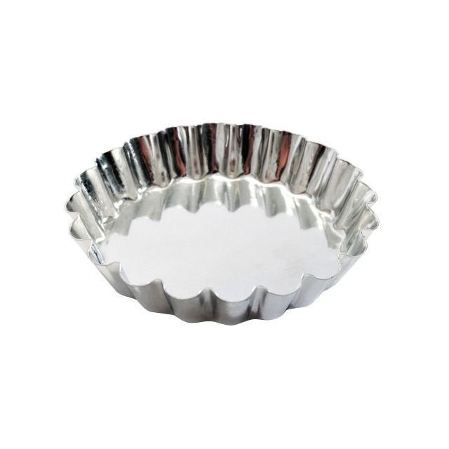Guery Moule à tartelette cannelée fer blanc 6 cm