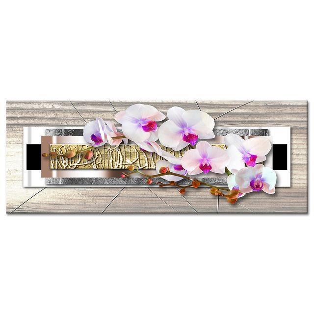 Tableau Zen Nature Orchidees Sur Toile Boutique Deco En Ligne