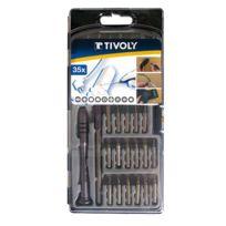 TIVOLY - coffret tournevis + embouts de précision 35 pièces - 11501570026