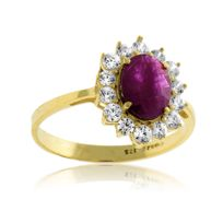 Cleor - Bague Or 375/1000 Rubis