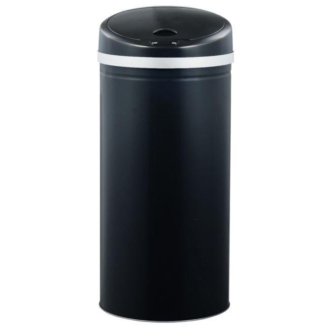 ROBBY poubelle à ouverture automatique 50l noire - upsense noir 50l