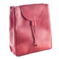 53288e30e4 MAISON FUTEE - Sac à dos simili cuir rouge pour femme - Petit format