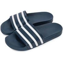 online retailer 17d43 0a0c5 Adidas - Adilette Bleu Marine Et Blanc