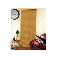 Jardideco - Rideau de porte en perles de bois - 90 x 200 cm