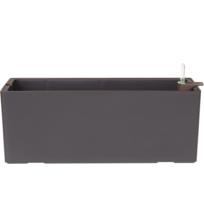 Artevasi - Jardinière à réserve d'eau noire, pour le balcon ou la terrasse, L 51 cm x l 20 cm