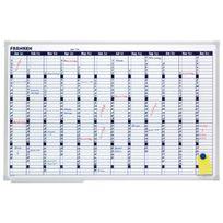 Franken - Tableau blanc calendrier annuel - 90 x 60 cm - magnétique et inscriptible