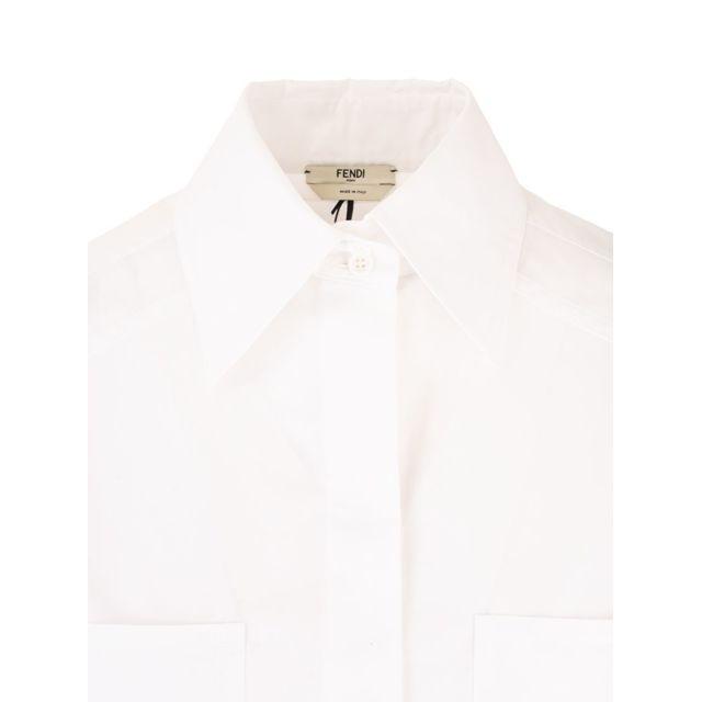 FENDI Femme Fs7270A5YMF0ZNM Blanc Coton Chemise