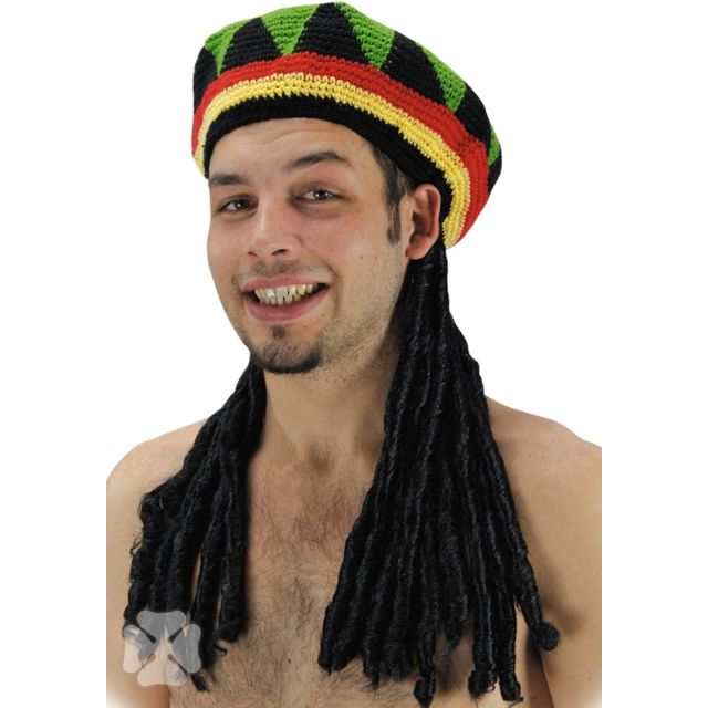 Sans - Perruque Rasta Bonnet Adulte - Jamaique
