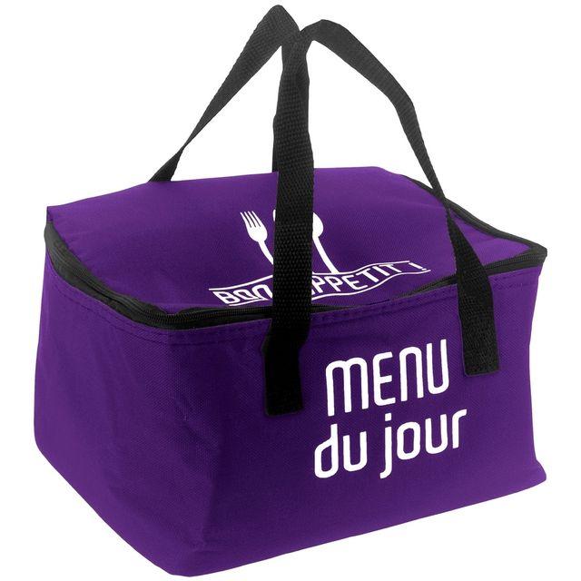 Promobo Lunch Bag Sac Panier Repas Fraicheur Isotherme Menu Du Jour Prune