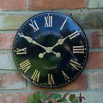 Smart Garden - Horloge murale d'extérieur en métal inspiration anglaise diamètre 38cm Westminster