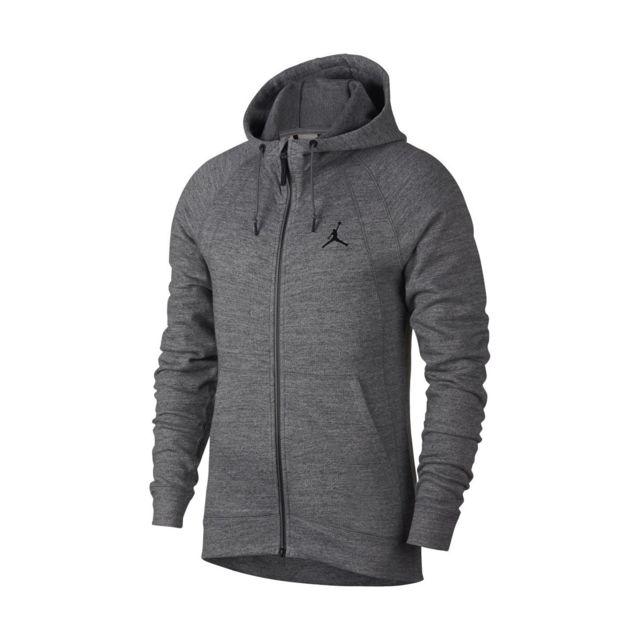2bd35106a5 Nike - Sweat à capuche Nike Jordan Sportswear Wings Fleece - 860196-091.  Couleur : Gris
