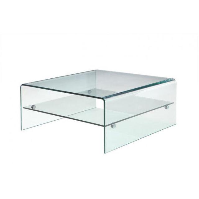 Declikdeco Table Basse Verre Glassy