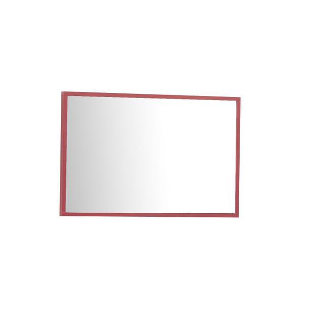 Comforium Miroir mural design coloris rouge