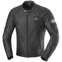 b4a635997c019 IXS - blouson moto ELIOTT cuir homme VINTAGE toutes saisons noir PROMO