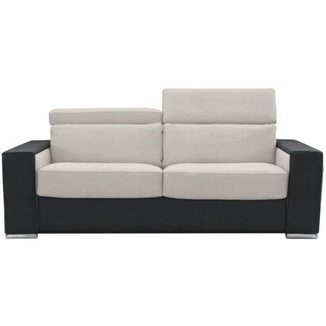 inside 75 canap convertible ouverture rapido jet 140cm noir blanc matelas 20cm m moire de. Black Bedroom Furniture Sets. Home Design Ideas