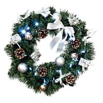 Xmas Living Glass - Wreath - Couronne Led Blanc/Argent Ø40cm - Guirlande et objet lumineux designé par