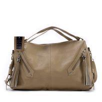 Oh My Bag - Sac à main cuir femme - Modèle Arizona taupe clair