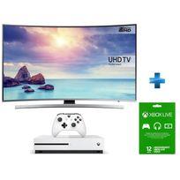 Samsung - TV LED 55'' 4K UHD Curved Smart TV -UE55KU6640 + Console Xbox One S 500go + Abo Xbox One Live Gold 12 mois