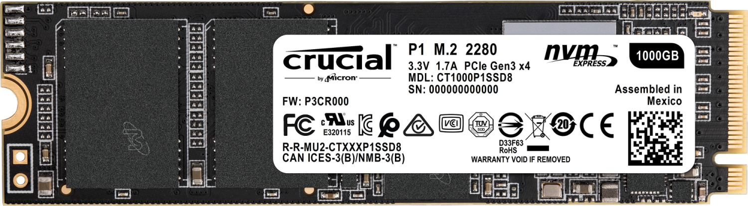 Disque SSD M.2 P1 1 To Crucial