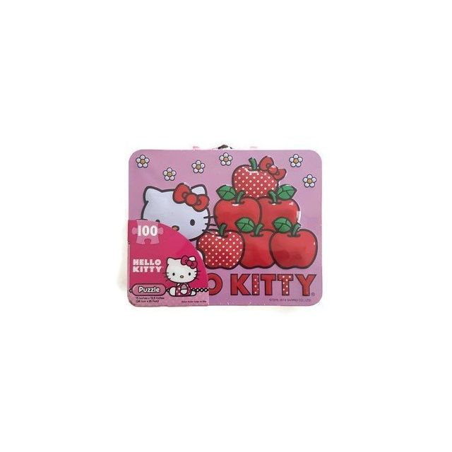 Hello Kitty Jigsaw Puzzle Lunch Box Tin - 100 pcs
