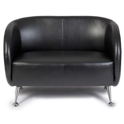 Canapé lounge / canapé club St. Lucia simili cuir 2 places noir