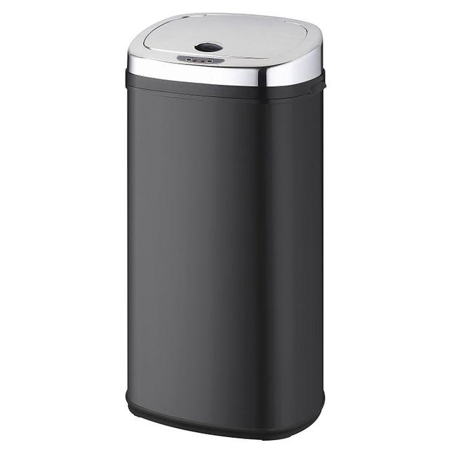 kitchen move poubelle automatique 42l noir inox bat 42ls02a black ss pas cher achat. Black Bedroom Furniture Sets. Home Design Ideas