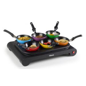 Tristar - Set 2 en 1 - Crêpière individuelle et mini woks colorés - Pour 6 personnes