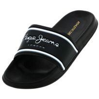 new style 358fe f106f Pepe Jeans - Claquettes mules Slider noir Noir 18098