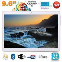 Yonis - Tablette 3G 9.6 pouces Android 5.1 Octa Core 2Go Ram 32 Go Blanc