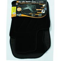 Topcar - 3 Tapis de sol semi-mesure pour Renault Twingo 2, noirs pour fixations d'origine attaches non fournies Arcoll 019513